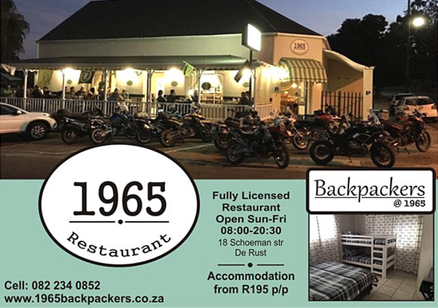 1965 Restaurant and Backpackers